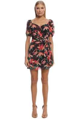 Talulah - Night Mirage Mini Dress - Black Floral - Front