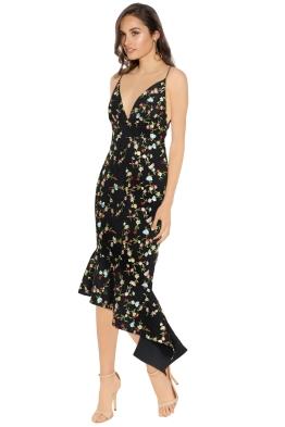 Talulah - Objective Flare Midi Dress - Black Floral - Side