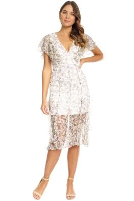 Talulah - Provocator V Neck Midi Dress - Floral - Front
