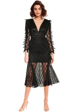 Talulah - Pursue Midi Dress - Black - Front