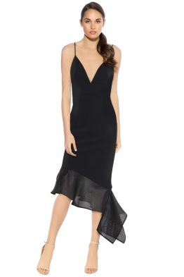 Talulah - Renegade Midi Dress - Black - Front