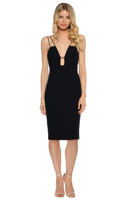 Talulah - Smooth Tidings Bodycon Dress - Black - Front