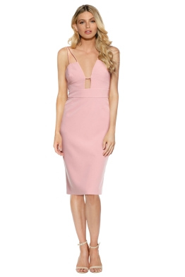Talulah - Smooth Tidings Bodycon Dress - Pink - Front