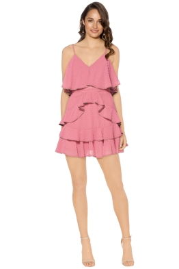 Talulah - Soft Posey Mini Dress - Front - Pink