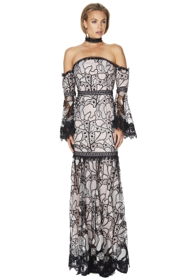 Talulah - Stole The Show Gown - Pink Black - Front