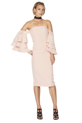 Talulah - Sunday Ruffle Dress - Pink - Front