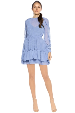 Talulah - Sweet Allure Long Sleeve Mini Dress - Pale Blue - Front