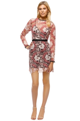 Talulah - The Passion Long Sleeve Mini Dress - Pink Black - Front