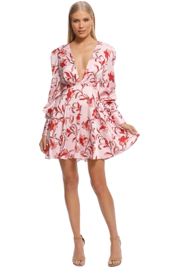 Talulah - Waltzing Mini Dress - Pink Floral - Front
