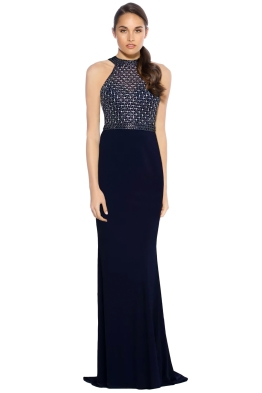 Tanis Olsen - Tyra Gown - Navy - Front