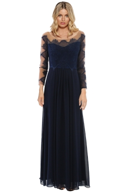 The Dress Shoppe - Gone With The Edge Gown - Navy - Front