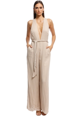The Jetset Dairies - Mohea Jumpsuit - Sand - Front