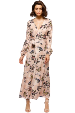 The Jetset Diaries - Azalea Midi Dress - Blush Floral - Front