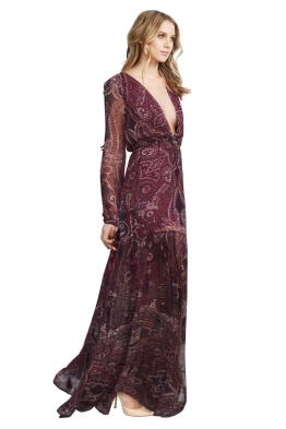 The Jetset Diaries - Labyrinth Paisley Maxi Dress - Side