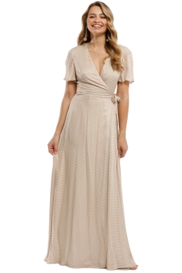 The Jetset Diaries - Mohea Maxi Wrap Dress - Sand - Front
