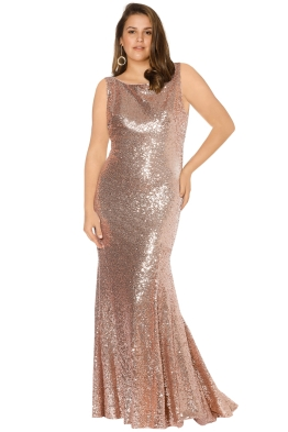 Theia - Gemma Gown - Rose Gold - Front [Size=14-]