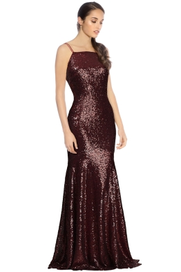 Theia - Jessica Gown - Garnet - Side