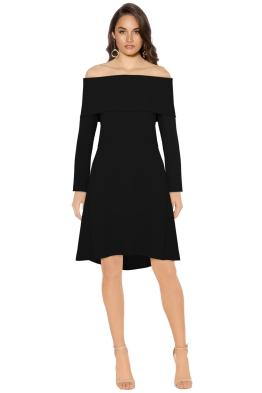 Theory - Elegant Mini Dress Black - Front