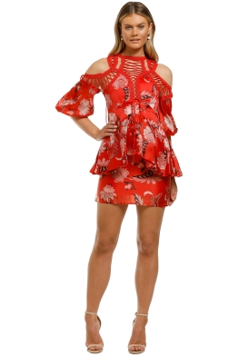 Thurley-Folklore-Print-Lace-Up-Dress-Folklore-Chintz-Red-Front