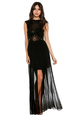 Thurley - Aria Maxi Dress - Front - Black