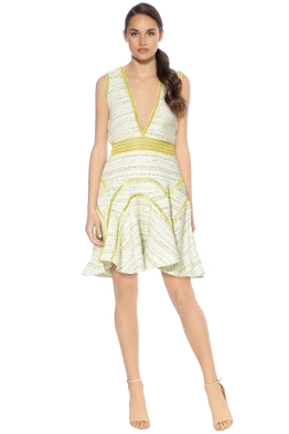 Thurley - Buttercup Boucle Dress - Yellow - Front