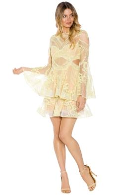 Thurley - Chameleon Mini Dress - Yellow - Front