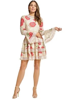 Thurley - Daisy Chain Mini Dress - Cream - Front