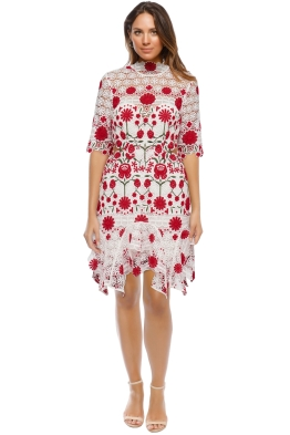 Thurley - English Rose Dress - White Floral - Front