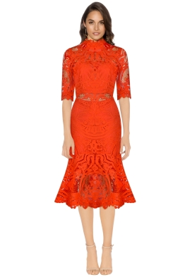 Thurley - Eternity Dress - Mandarin - Front