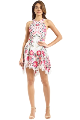 Thurley - Flower Bomb Lace Mini Dress - Pink Multi - Front
