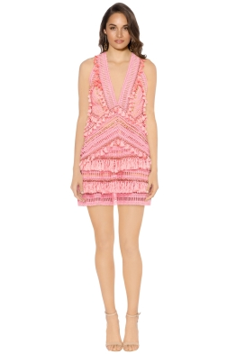 Thurley - Foxtrot Dress - Flamingo - Front