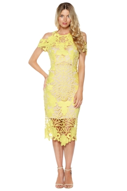 Thurley - Hollyhock Midi Dress - Yellow - Front