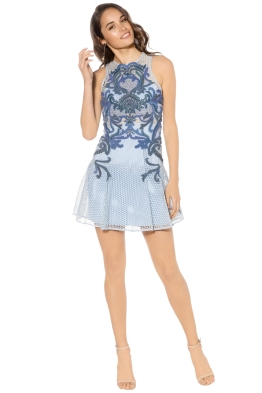 Thurley - Mid Summer Night Dream Dress - Blue - Front