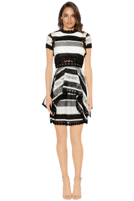 Thurley - Moonlight Mini Dress - Black - Front