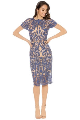 Thurley - Pandora Dress - Blue - Front