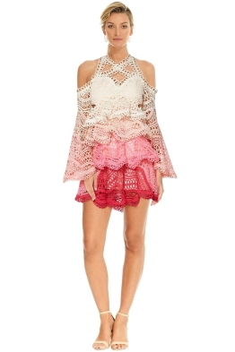 Thurley - Rainbow Mini Dress - Pink Multi - Front