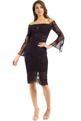 Thurley - Scarborough Fair Dress - Black - Front