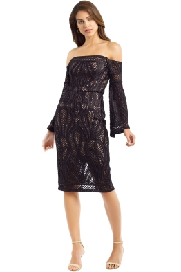 Thurley - Sonnet Strapless Dress - Black - Front