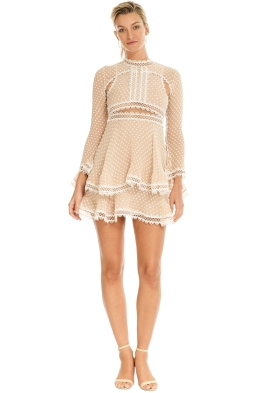 Thurley - Tea Party Mini Dress - Blush - Front