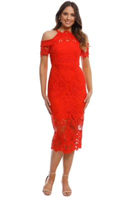 Thurley - Bouquet Dress - Mandarin - Front