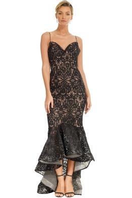 Tinaholy - Mateja Tulip Skirt Dress - Black - Front