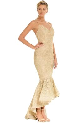 Tinaholy - Mateja Tulip Skirt Dress - Gold - Side