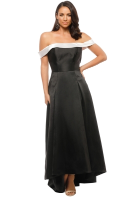 Tinaholy - Mikado Gown - Black - Front