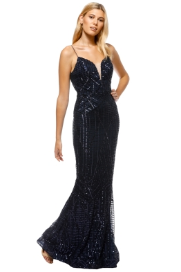 Tinaholy - Tiffany Sequin Gown - Front