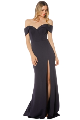 Tinaholy - Sweetheart Gown - Navy - Front