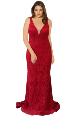 Tinaholy - Victorian Heart Gown - Red - Front