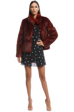 Unreal Fur - Fur Delish Jacket - Lush Rust - Front
