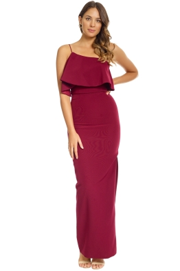 Unspoken - Azalea Long Dress - Burgundy - Front