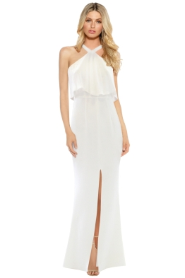 Unspoken - Rococo Ruffle Dress - Ivory - Front