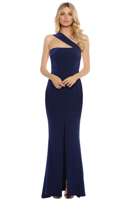 Unspoken - Stellar Long Dress - Ink - Front